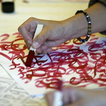 Kalligrafie Workshop mit Andreas Frohloff © Gerhard Kassner