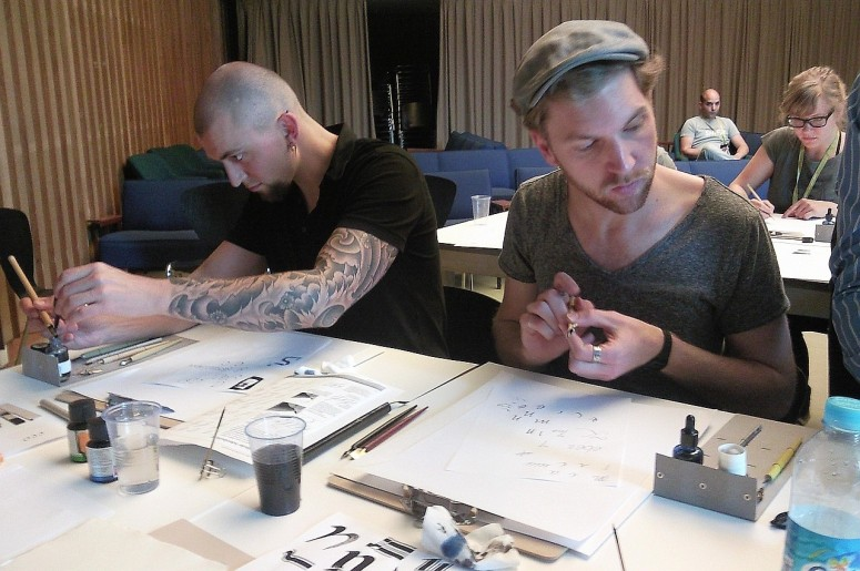 Calligraphy workshop: Writing with the goose quill
