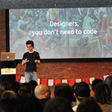 Große Erleichterung: Designer müssen laut Harry Keller nicht Programmieren lernen. © Bettina Ausserhofer (Monotype)
