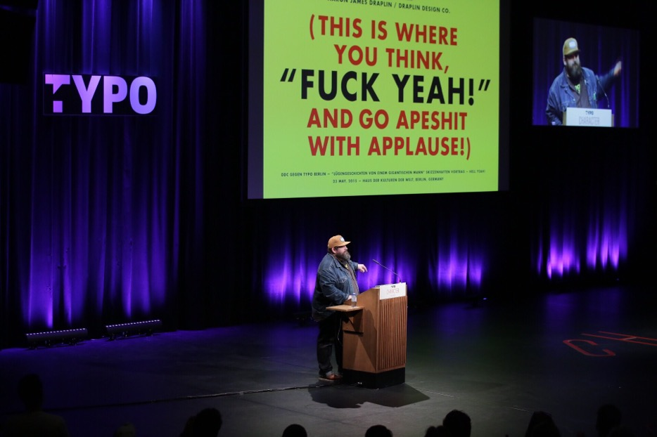 Aaron Draplin does swear a lot more than Erik Spiekermann … © Gerhard Kassner (Monotype)