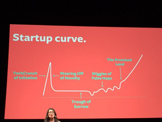 The startup curve, as envisioned by Tash Wong
