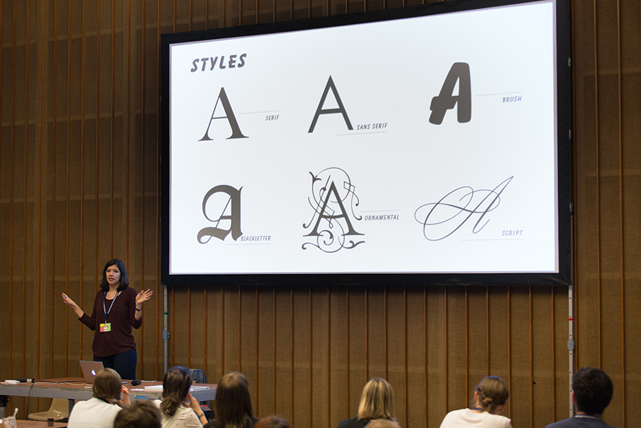 Isabel Urbina Peña at TYPO Berlin 2016, © Sebastian Weiß / Monotype