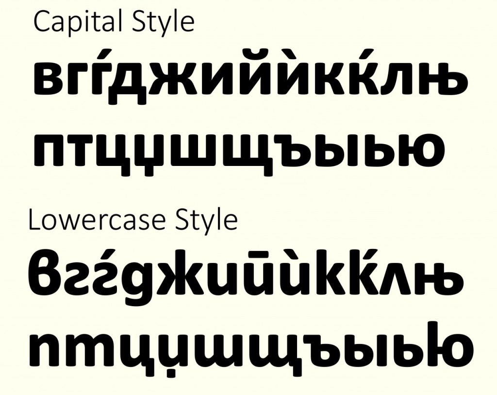 Lucas de Groot about Cyrillics - Typofest 4 - capital and lower case Cyrillic style