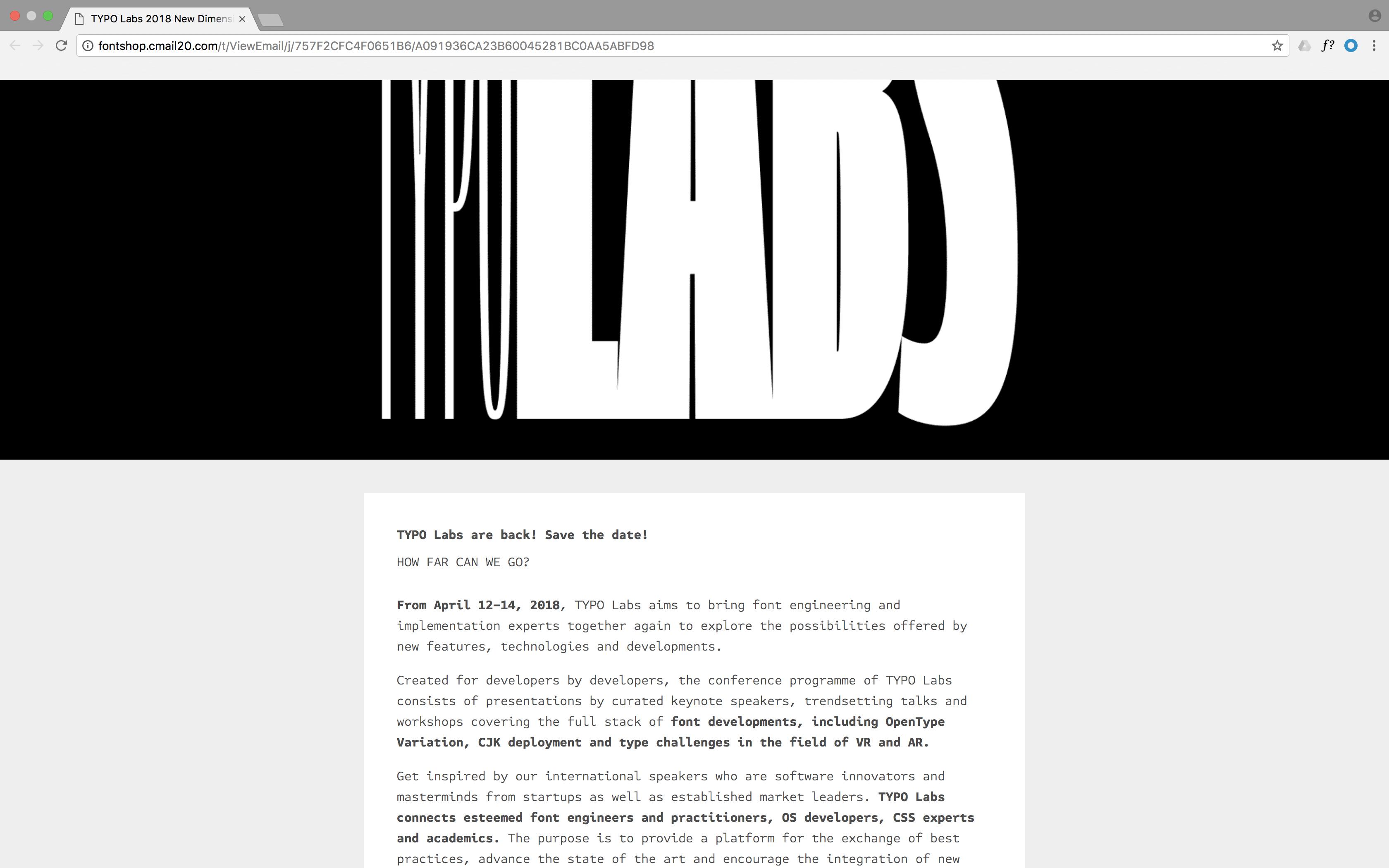 Typo Labs Newsletter